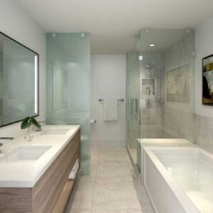 Kindred Resort Bathroom Rendering