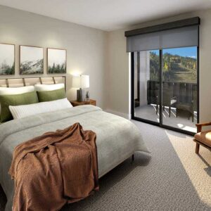 Kindred Resort Bedroom Rendering