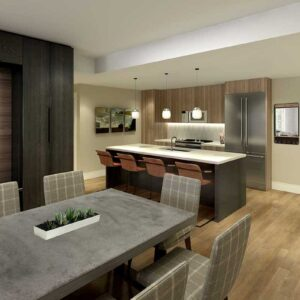 Kindred Resort Dining and Kitchen Rendering