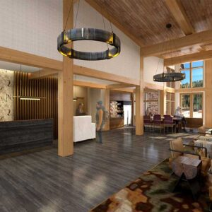 Kindred Resort Front Desk Rendering