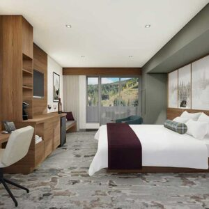 Kindred Resort King Bedroom Rendering