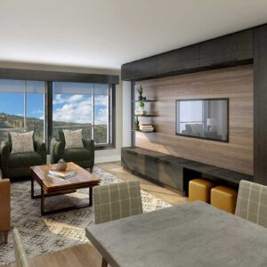 Kindred Resort Living Room Rendering