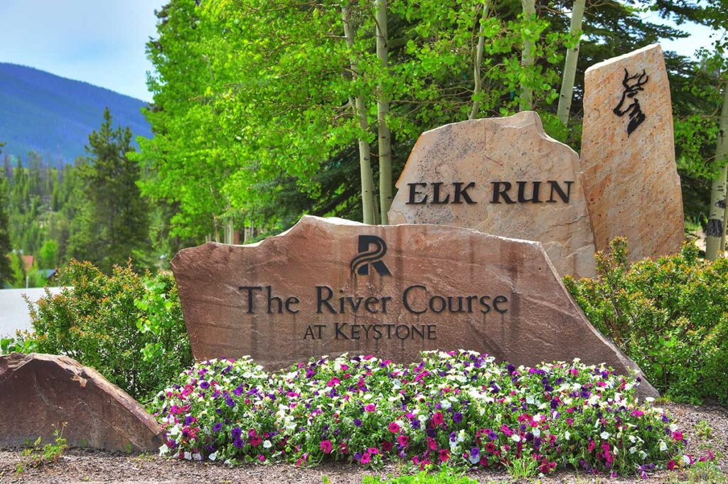 keystone river course sign