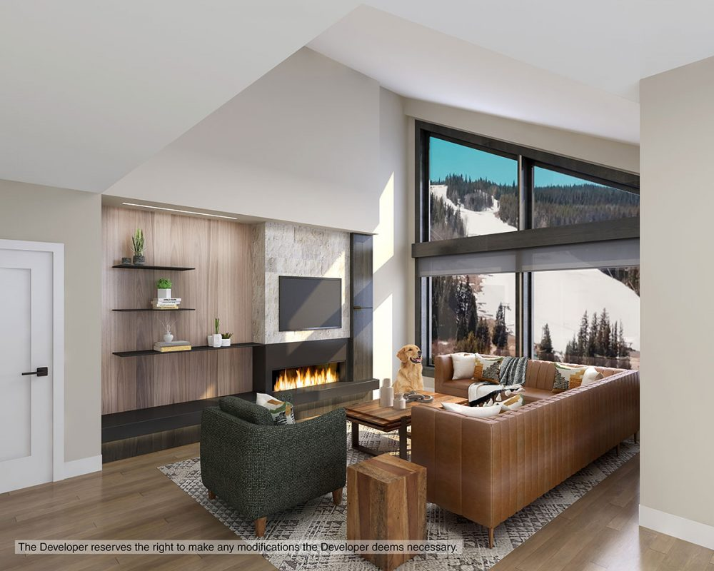 Vaulted Condo Living Room